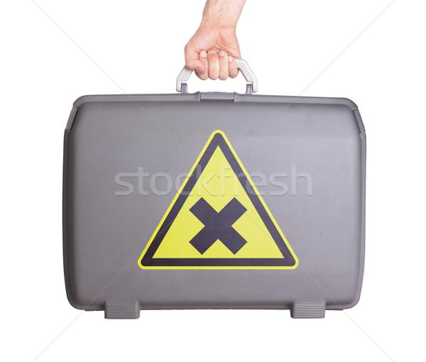 ストックフォト: 中古 · プラスチック · スーツケース · 印刷 · にログイン
