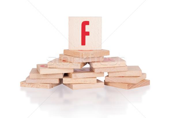 Alphabet - letter F Stock photo © michaklootwijk