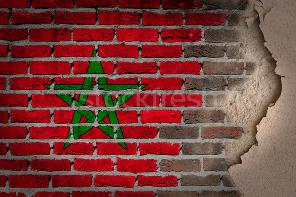 Dark brick wall with plaster - Morocco Stock photo © michaklootwijk