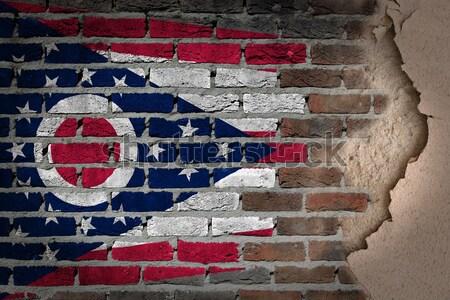 Escuro parede de tijolos direitos Ohio textura bandeira Foto stock © michaklootwijk