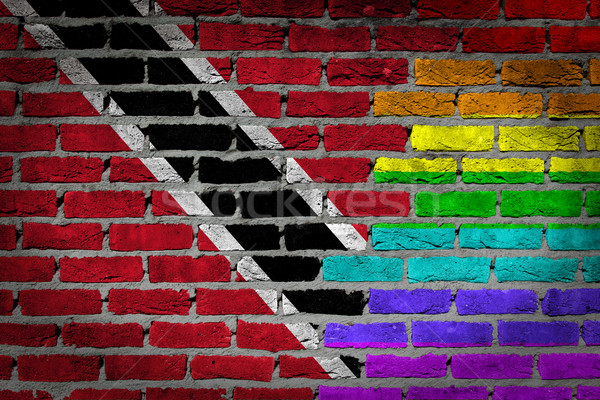 Dark brick wall - LGBT rights - Trinidad and Tobago Stock photo © michaklootwijk