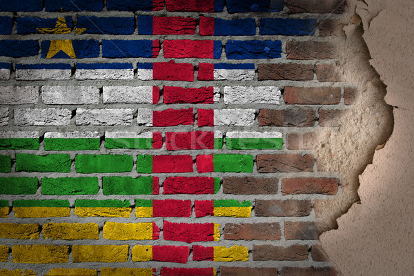 Dark brick wall with plaster - Central African Republic Stock photo © michaklootwijk