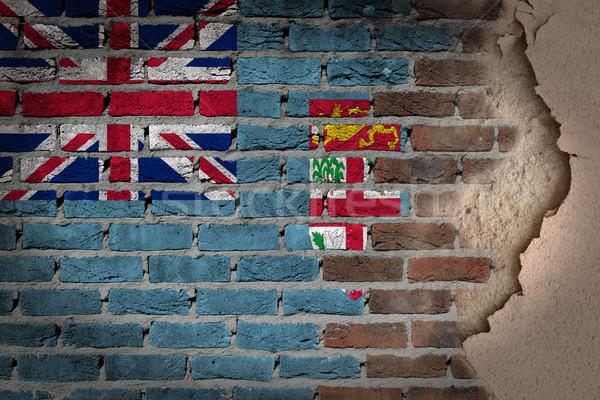 Escuro parede de tijolos gesso Fiji textura bandeira Foto stock © michaklootwijk