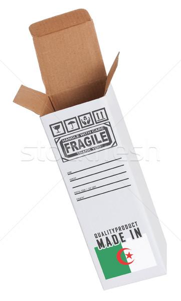Exporter produit Algérie papier boîte Photo stock © michaklootwijk