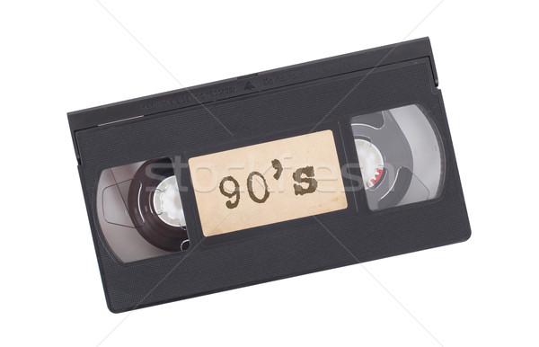 Retro videotape isolated on white Stock photo © michaklootwijk
