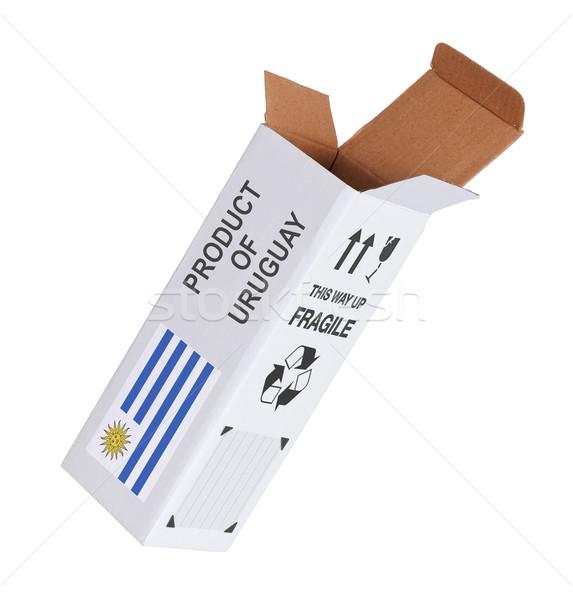 エクスポート 製品 ウルグアイ 紙 ボックス ストックフォト © michaklootwijk