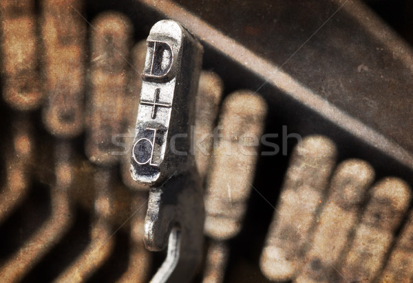 D hammer - old manual typewriter - warm filter Stock photo © michaklootwijk