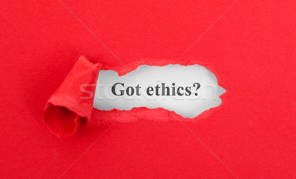 Text appearing behind torn red envelop Stock photo © michaklootwijk