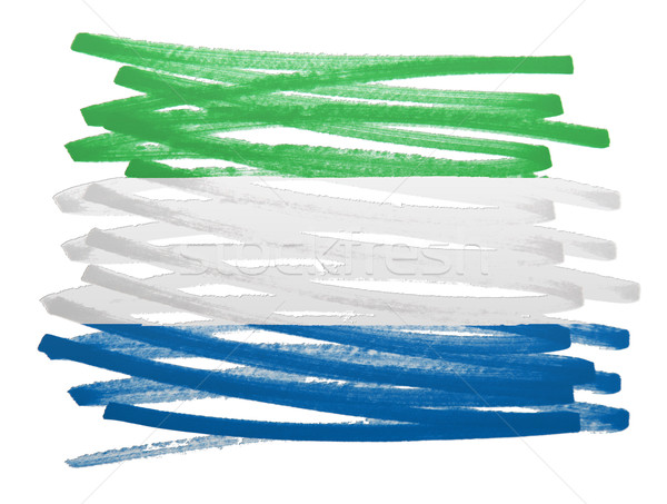 Flag illustration - Sierra Leone Stock photo © michaklootwijk