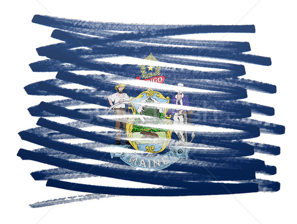 Pavillon illustration Maine stylo affaires peinture Photo stock © michaklootwijk