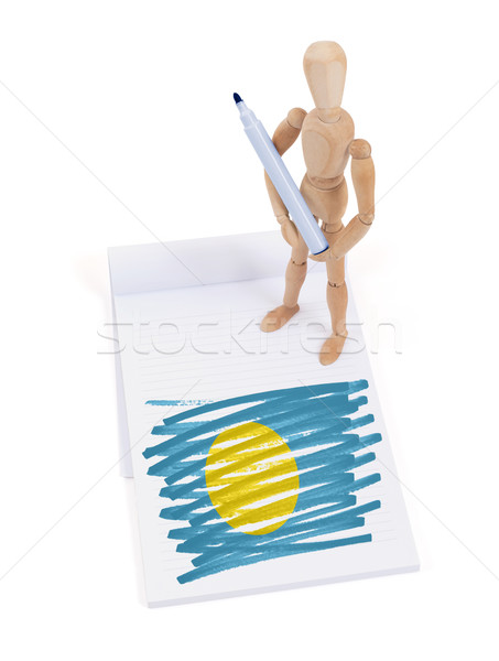 Wooden mannequin made a drawing - Palau Stock photo © michaklootwijk