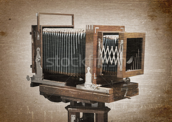 Old wooden camera Stock photo © michaklootwijk