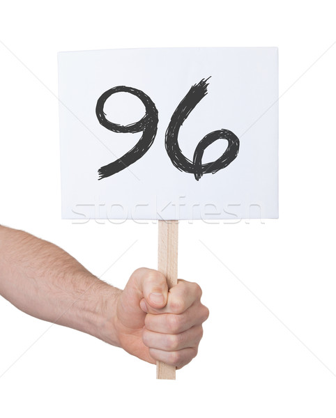 Sign with a number, 96 Stock photo © michaklootwijk