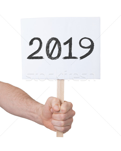 Sign with a number - The year 2019 Stock photo © michaklootwijk