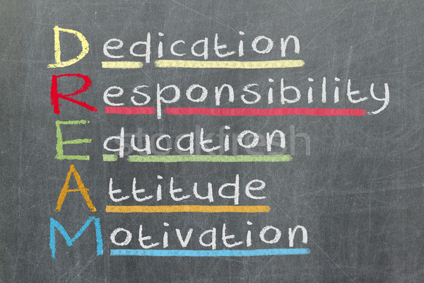 Dedication, responsibility, education, attitude, motivation - DR Stock photo © michaklootwijk