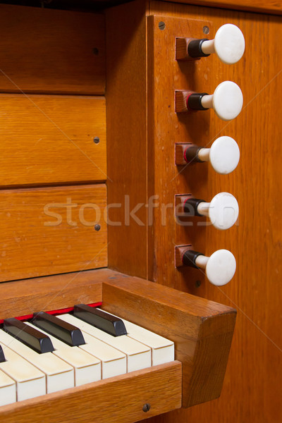 Organ knobs blank labels Stock photo © michaklootwijk