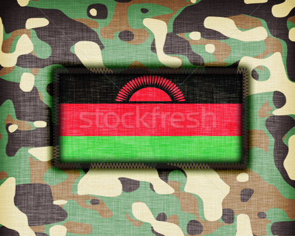 Camouflage uniform Malawi vlag textuur abstract Stockfoto © michaklootwijk