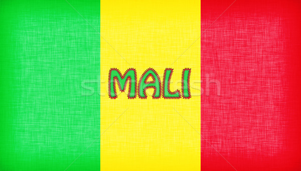 Flag of Mali stitched with letters Stock photo © michaklootwijk