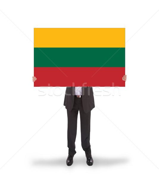 Foto d'archivio: Imprenditore · grande · carta · bandiera · Lituania