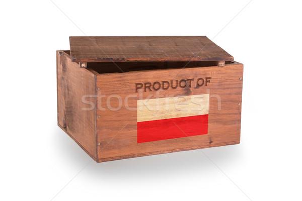 Stock fotó: Fából · készült · láda · izolált · fehér · termék · Lengyelország