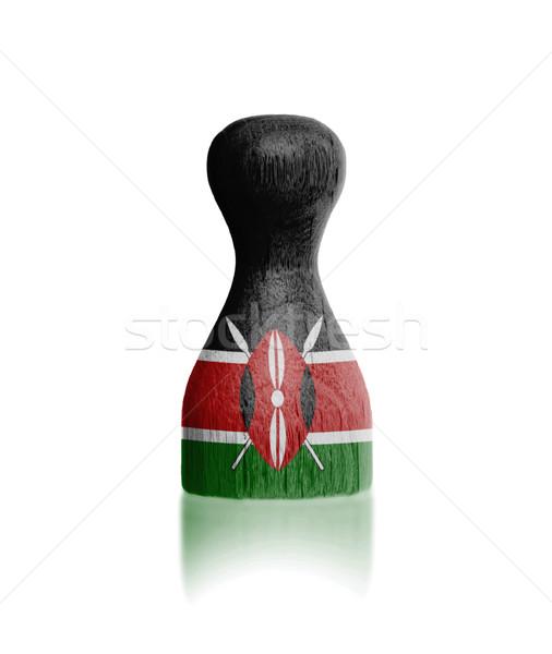 木製 フラグ 絵画 ケニア 塗料 ストックフォト © michaklootwijk