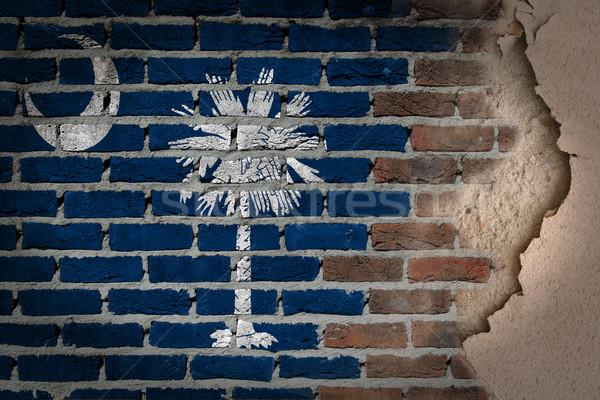 Dark brick wall with plaster - South Carolina Stock photo © michaklootwijk