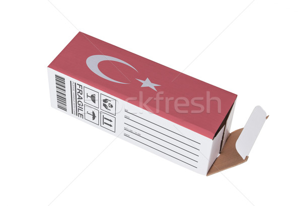 Concept of export - Product of Turkey Stock photo © michaklootwijk