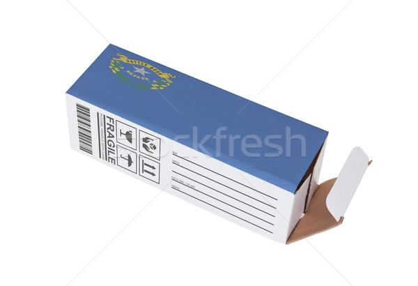 Foto stock: Exportar · produto · Nevada · papel · caixa