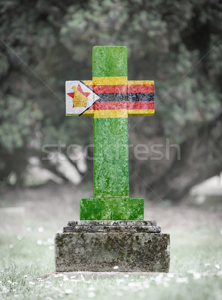 Gravestone in the cemetery - Zimbabwe Stock photo © michaklootwijk