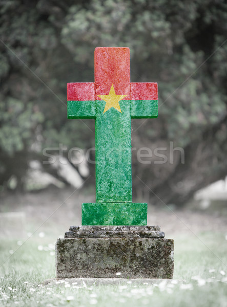 Gravestone in the cemetery - Burkina Faso Stock photo © michaklootwijk