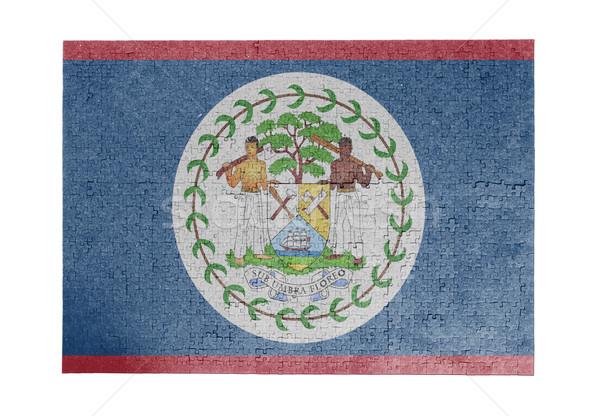 Nagy kirakós játék 1000 darabok Belize zászló Stock fotó © michaklootwijk
