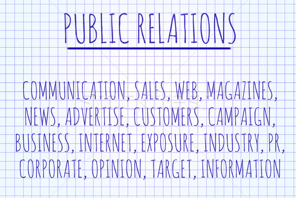 Public relations word cloud Stock photo © michaklootwijk