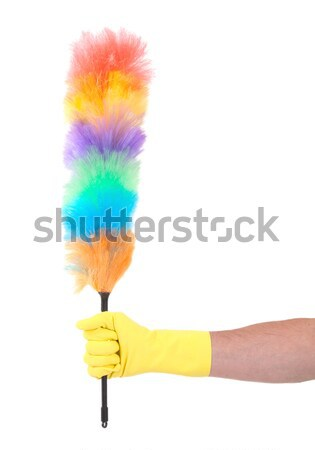 Soft colorful duster with plastic handle Stock photo © michaklootwijk