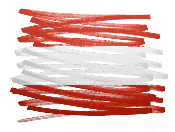 Flag illustration - Austria Stock photo © michaklootwijk