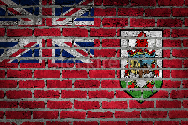 Dark brick wall - Bermuda Stock photo © michaklootwijk