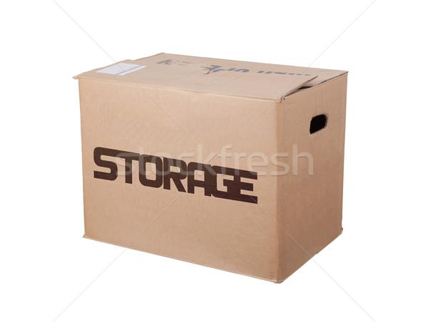 Closed cardboard box, isolated Stock photo © michaklootwijk