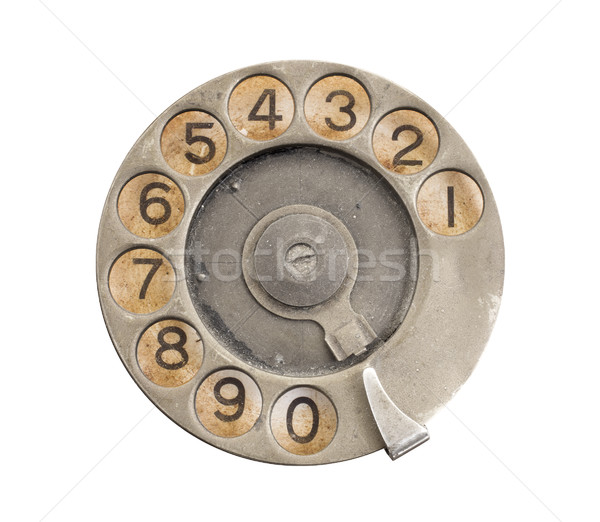 Close up of Vintage phone dial  Stock photo © michaklootwijk
