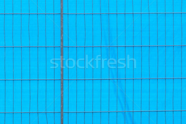Metal fence with plastic behind it Stock photo © michaklootwijk