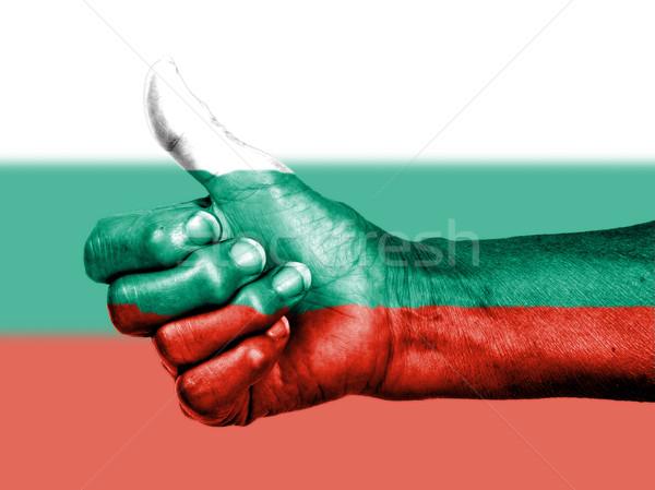 старуху знак флаг шаблон Болгария Сток-фото © michaklootwijk