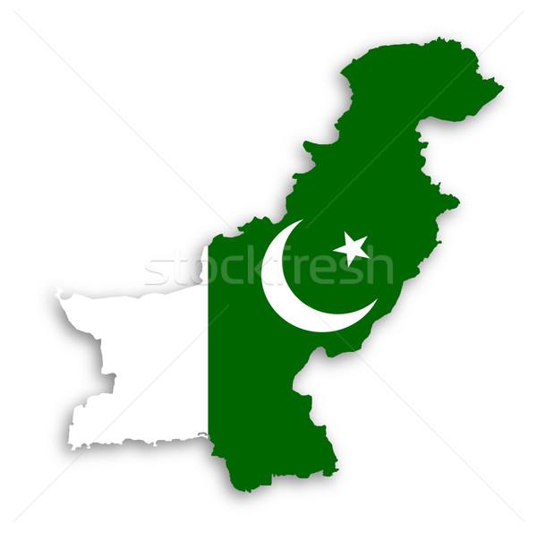 Térkép Pakisztán zászló illusztráció textúra absztrakt Stock fotó © michaklootwijk