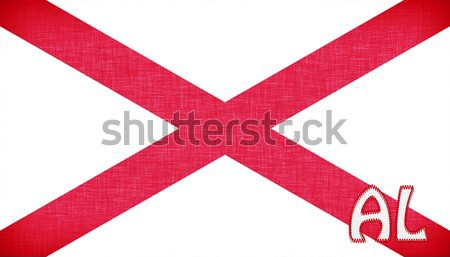 Linen flag of the US state of Alabama Stock photo © michaklootwijk