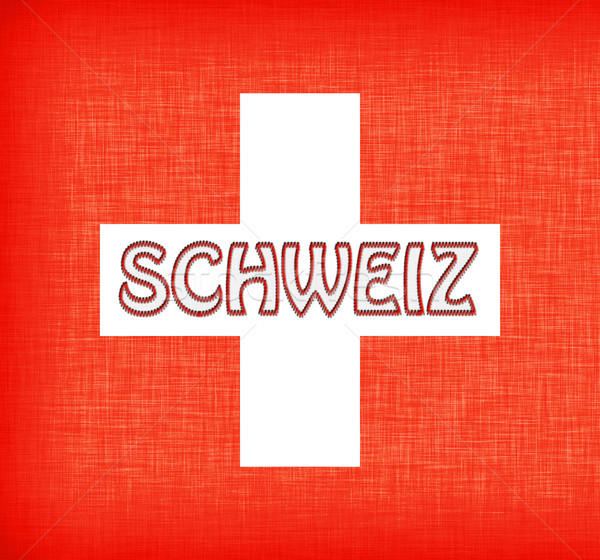 Linen flag of Switzerland Stock photo © michaklootwijk