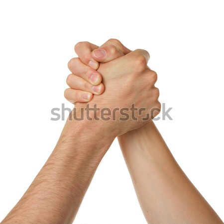 Man and woman in arm wrestlin Stock photo © michaklootwijk