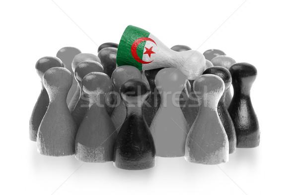 Een uniek pion top vlag Algerije Stockfoto © michaklootwijk