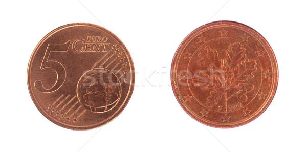 Stock photo: 5 euro cent coin
