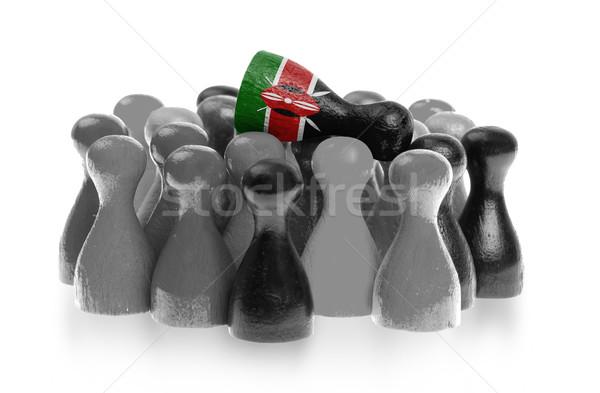 Een uniek pion top vlag Kenia Stockfoto © michaklootwijk