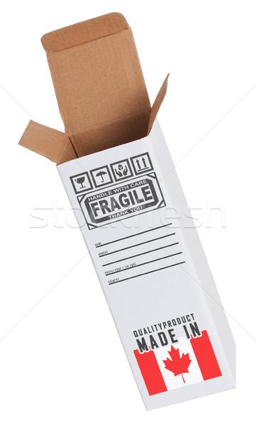 Exportar produto Canadá papel caixa Foto stock © michaklootwijk