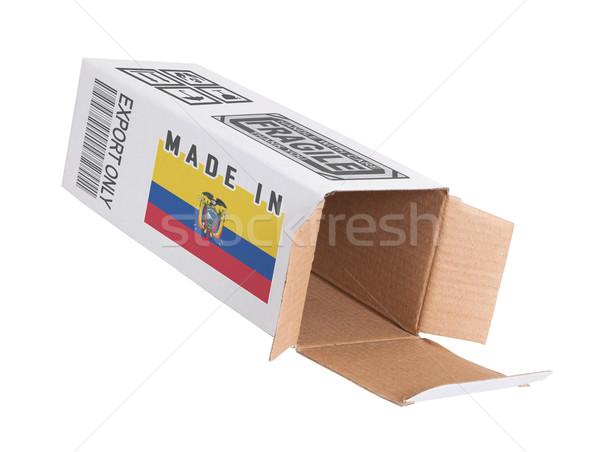 Stock fotó: Export · termék · Ecuador · kinyitott · papír · doboz