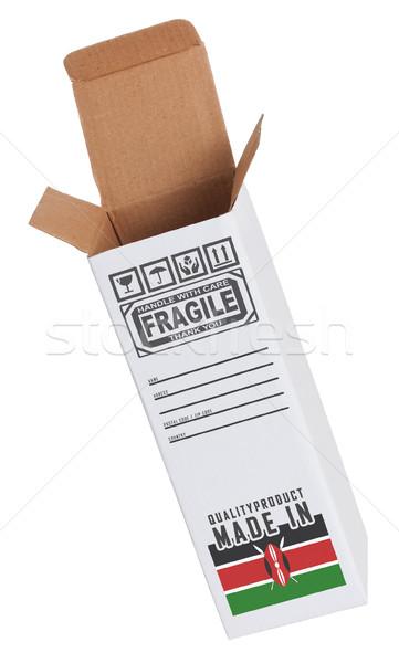 Export termék Kenya kinyitott papír doboz Stock fotó © michaklootwijk