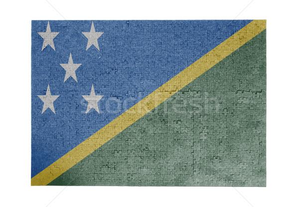 1000 pezzi Isole Salomone bandiera Foto d'archivio © michaklootwijk